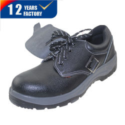 Cuir véritable injection PU Steel Toe Chaussures de sécurité Ly-6111