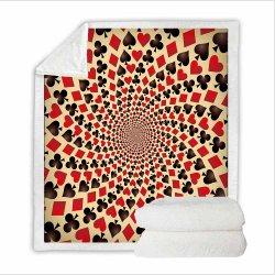 Les cartes à jouer, 3D Imprimés couverture chaude, Sherpa Blanket