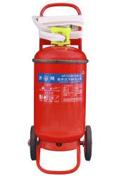Extintor de polvo de ruedas.