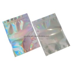 Holografische Rainbow Color Resealable geur-proof Mylar Ziplock Tassen