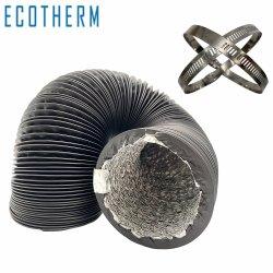 La ventilación de HVAC de 25 pies 6 pulgadas de aluminio Non-Insulated ventilación conducto flexible para crecer tienda/filtro de aire de efecto invernadero