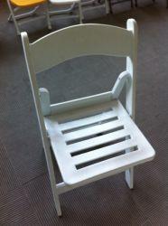 كرسي الطي للرسو على شكل كرسي أبيض