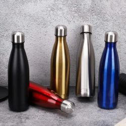 750ml Cola garrafa de água em forma de copo de vácuo em aço inoxidável