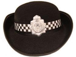 Dama de la tapa del recipiente de tapa de la policía Hat