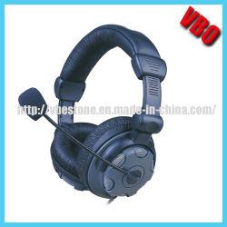 Berufsstudio-dynamischer Stereolithographie DJ-Kopfhörer mit Mikrofon-Hifi verdrahteter Kopfhörer-Überwachung für Musik-Telefon
