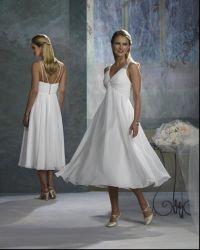 Os Tirantes de moda vestido curto &Bridesmaid vestidos (SH-428)