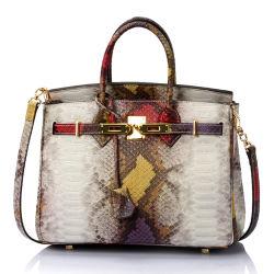 O design da marca grande moda Senhora verdadeira Leather Tote Bag Bolsas
