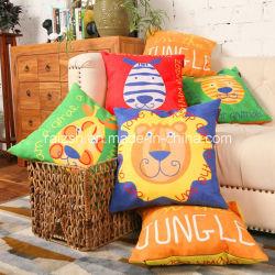 High-Grade Suede de dibujos animados de moda mayorista almohada impresa la decoración del hogar