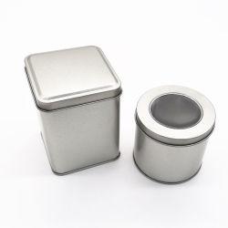 PVC 명확한 Windows 주석을%s 가진 정연한 금속 주석 화장품 시계 보석 선물 포장 상자