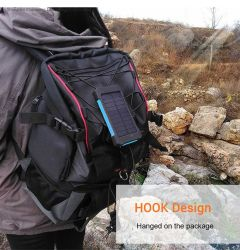 10000mAh ソーラーパワーバンク防水ソーラー外部バッテリー緊急充電 iPhone Huawei モバイル用キャンプ LED ライト