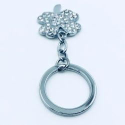 Meilleur Prix de gros de chaînes de clés de fleurs de trèfle chanceux avec Diamond