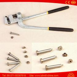 Реклама лампа слово алюминиевый корпус из нержавеющей стали двойной пружинный щипцы для пробивания отверстий