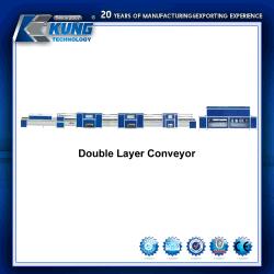 Pattino di sport del trasportatore di doppio strato che fa rifinitrice di Procuction del modanatura della linea