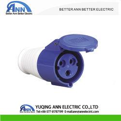 Conector industrial de 16 a 32 A 6h PA66 Toma Móvil Industrial Ce enchufe 2P+E