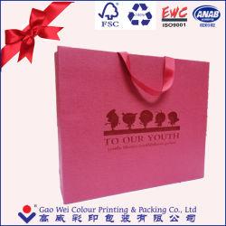 Diseño barato compras inteligentes bolsa de papel bolsas de papel hecho personalizado