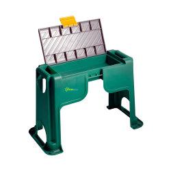 Fabricante de alimentación directamente de la luz de alta calidad de plástico patio jardín Kneeler asiento con compartimiento de almacenamiento de herramientas