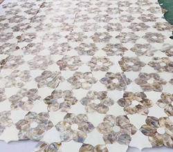 Shell de la rivière mélanger avec motif Blacklip Mop dans Square, Salle de bains carrelage, mosaïque de démarrage arrière