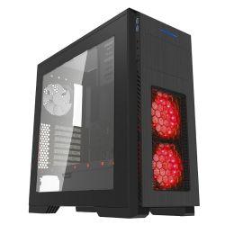 Schwarzer voller Aufsatz RGB-Spiel-Kasten mit transparentem Fenster