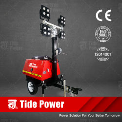 LED de alimentación de la marea de la torre de iluminación móviles
