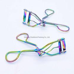 Brucelles de faux cils holographique inoxydable coloré pour le maquillage de coups de fouet du dispositif de courbure