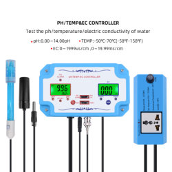 3 en 1 pH/Ec/temp. Testeur sonde électronique remplaçables par l'eau