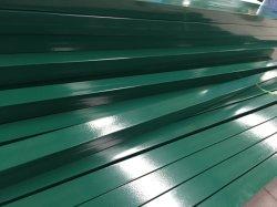 [فب-س025] مسلوقة خضراء يكسى فولاذ سياج موقع مع طول مختلف