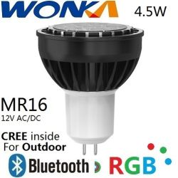 CREE LED RGB MR16 Rénovation spotlight ampoule de lampe de contrôle avec Bluetooth