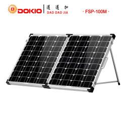 100W panel solar monocristalino plegable con bolsa de transporte