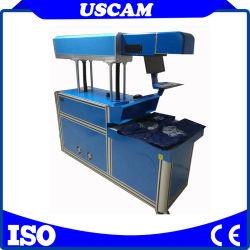 macchina dinamica da tavolino della marcatura del laser del CO2 di CNC 3D per la superficie curva di stampa profonda e grande dell'intervallo che incide il sistema automatico del fuoco