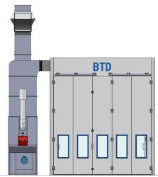 Cabine de pulvérisation de peinture de grande taille / cabine de pulvérisation de bus pour la vente
