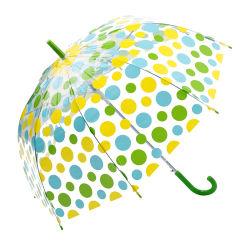 4Couleur nouveau Parasol Parasol créatif mignon transparent en PVC de champignons frais Polka Dot Arch parapluie Parapluie long de l'enfant/pluie