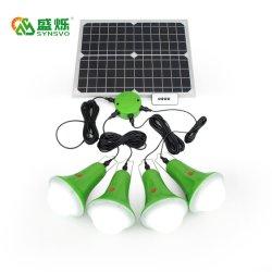 Lámpara LED Portátil USB/Sistema de iluminación de energía solares domésticos con cargador de teléfono móvil