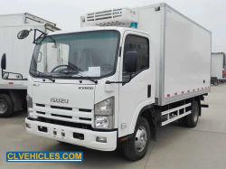 Vrachtwagen van de Diepvriezer van de Bestelwagen van Isuzu 600p 4X2 5ton de Gekoelde Doos Gebruikte