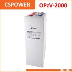 2V2000AH tubulaire Opzv Batterie Gel d'énergie solaire 2V2-2000 Opzv 2000Ah