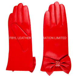 Dame Fashion Leather Gloves (jyg-27110)