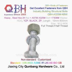 Qbh ASTM A325m um325 Zp/Yzp/HDG/Preto/Tratamento Térmico/Plain/zinco/porcas Dacromet/Geomet 2h a porca da indústria pesada de peças de construção do parafuso de parafuso com mola/Televisão F436m Arruela