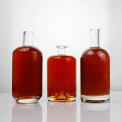 Бесплатные образцы Наклеенный логотип Super Flint Empty Drink Water Соки молоко Вино Виноградная водка Бренди 200 мл 500 мл 750 мл Стеклянная бутылка