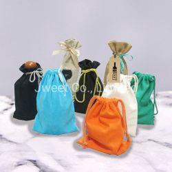 綿のワインの引くことストリングパッキングはギフトを袋に入れる