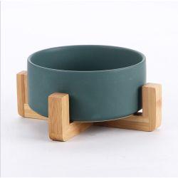 Loiça Pet Cat Bowl, estante de madeira Cão Gato Taça alimentar