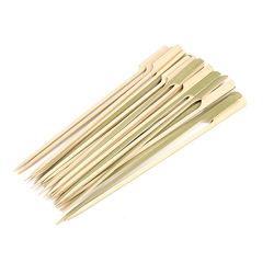 Barbacoa de pollo de bambú de punta plana Origami vara de bambú