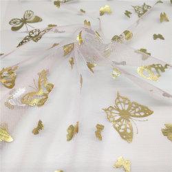 طبلة شبكة تول بناء مع نوع ذهب فراشة رقيقة معدنيّة لأنّ لباس داخليّ قماش