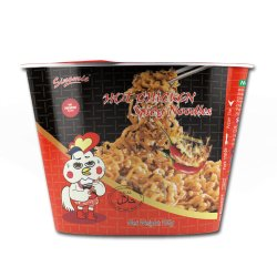 Fábrica da marca Sinomie 2X quente pimenta picante Sabor Galinha OEM estilo coreano Taça Ramen macarrão instantâneo