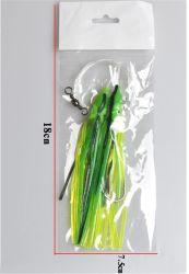 Sabiki monteert het Met een sleeplijn vissen Lokmiddelen van de Rokken van de Octopus van het Aas van het Lokmiddel van de Visserij van de Pijlinktvis van de Octopus de Zachte Rubber