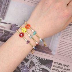Mlgm Süßwasser-Zuchtperlen-Armband für Frauen Schmuck Custom Fashion Imitation Schmuck 2021 Gold Perlen Luxus fein Piercing WhoelSale Armreifen und Armbänder