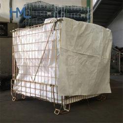 カスタマイズされた溶接ロジスティック産業用折りたたみ式スタッカブルポータブルスチール製 PET プリフォーム プラスチックボトル用ワイヤ保管容器