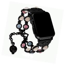 Bördeln der 2020 Form-Achat-lichtemittierendes Armband Iwatch Band-leuchtende Schmucksachen Wristbands für Serien 1 der Apple-Uhrenarmband-38/40/42/44mm 2 3 4 5