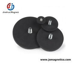 Magneti per segnaletica rivestiti in gomma base magnete con magnete in plastica con rivestimento in gomma Thread in vendita
