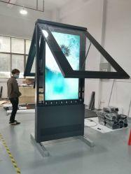 Высокая яркость 75 дюйма Double-Side открытый сенсорный экран Digital Signage ЖК-дисплей