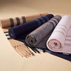 Sciarpa lunga 100% di marca di stile dell'assegno del cachemire classico di lusso del plaid