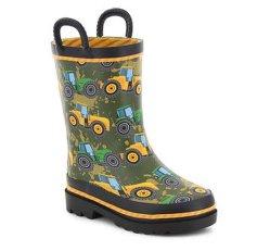 Veículo e operação do design do veículo Kids Piscina chuva à prova de botas botas de borracha estilo ocidental